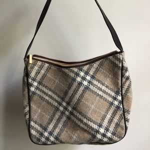 Burberry Nova Wool/leather Hobo bag